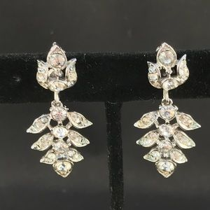 Vintage screw back rhinestone dangle earrings